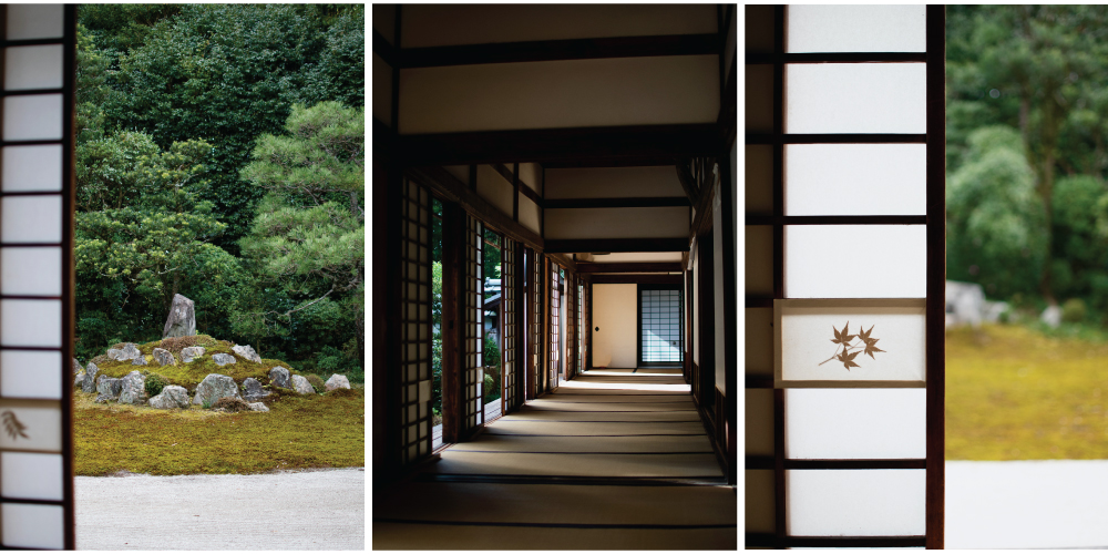 There is also a smaller garden on the east side, that you can admire through the round tea ceremony room window.